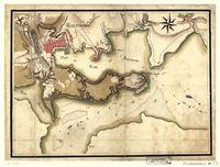 [Ville, port, et rade de Baltimore dans le Maryland.